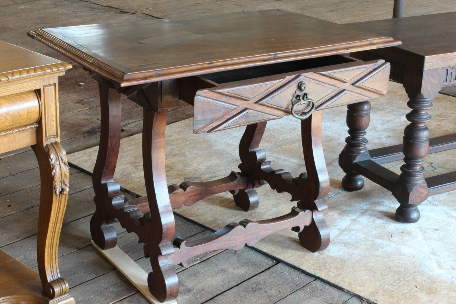 Rhodesian teak console table carved riam rhodesian teak console table carved geotapseo Image collections