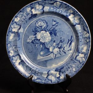 Staffordshire Clews Flow Blue Coronation Dinner Plate 1
