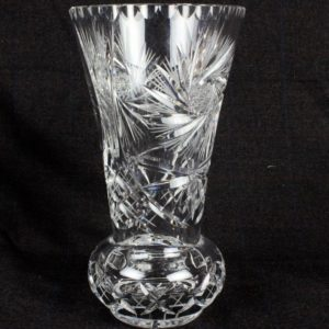 AMERICAN BRILLIANT Crystal Glass Vase 1