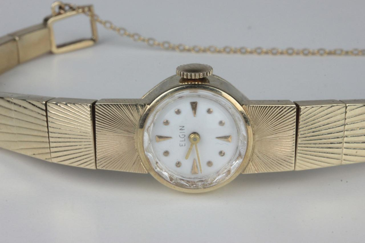 Art Deco 14K Solid Gold Ladies ELGIN Watch 19 jewels