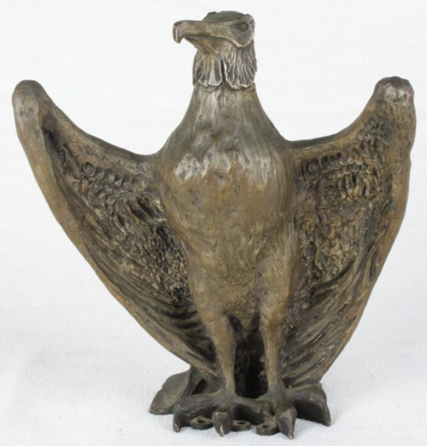 "19th Century 10"" Stylized Bronze Architectural Eagle Statues"