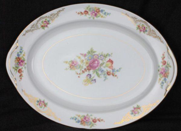 Aichi China Dresden Flowers Serving Platter
