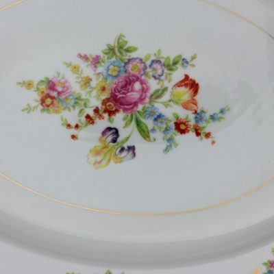 Aichi China Dresden Flowers Serving Platter