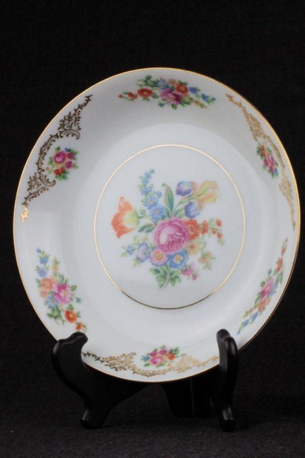 Aichi China Soup Bowl Dresden Flowers
