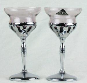 Art Deco Farberware Cambridge Morgantown Chrome Wine Cordial Cocktail Glass