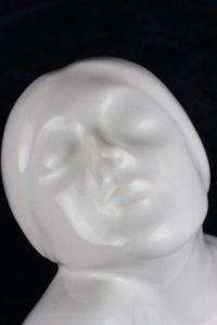 Art Deco Female Porcelain Greta Garbo Bust Figurine by Broadmoor Pottery