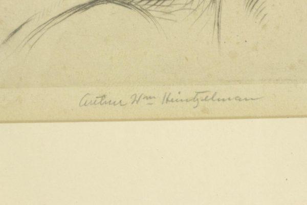 ARTHUR HEINTZELMAN Girl w/ Doll Signed & Numbered Original Framed Etching