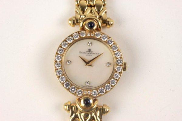 Baume & Mercier Geneve 18k Gold + Diamonds Ladies Watch