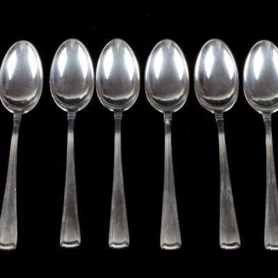 8 Blackinton Marie Louise Sterling Silver Spoons 1939 Shreve Crump&Low