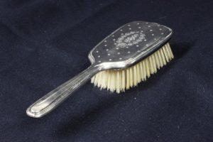 Victorian Blackinton Sterling Silver Hairbrush + Hand Mirror Vanity Set