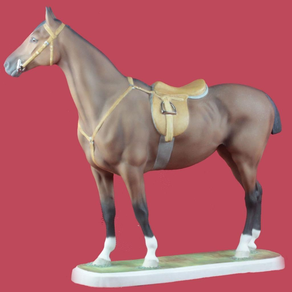 Boehm Hunter Horse Porcelain Ceramic Figure Signed H Brown