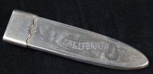 California Bowie Knife Hand-Engraved Silver Scabbard Michael Price