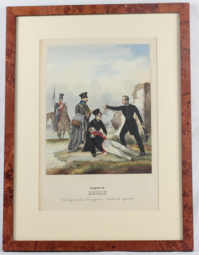 1842 Christian Weiss Empire De Russie Chirurgien Hand Colored Lithograph