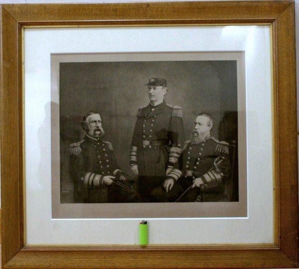 DH Anderson 1892 Photogravure Civil War Navy Admirals: Dupont/Farragut/Porter
