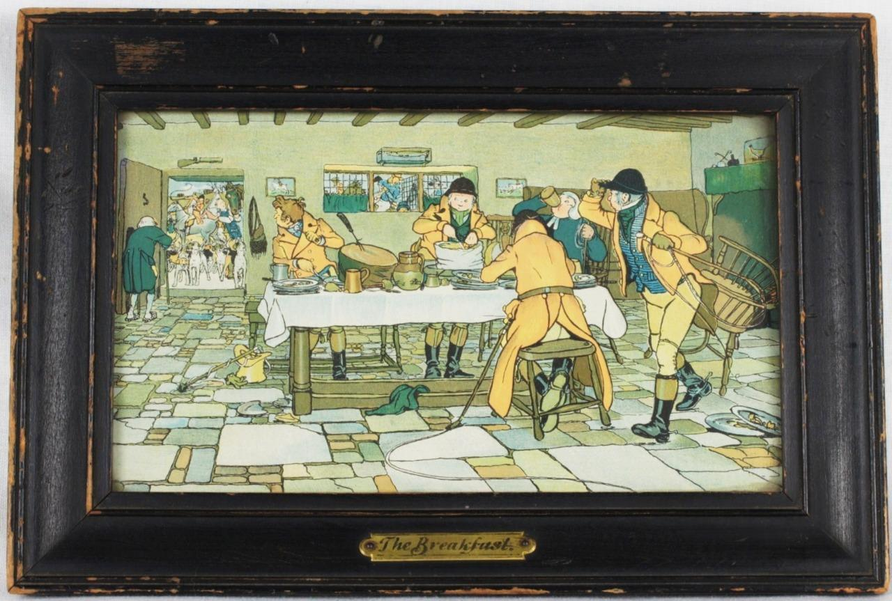 VARIANT CECIL ALDIN Fallowfield Hunt Breakfast At 3 Pigeons Print