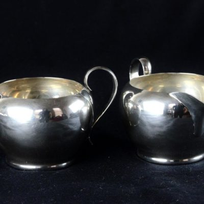 Gorham 392 & 393 2-Piece Sterling Silver Creamer & Sugar Set