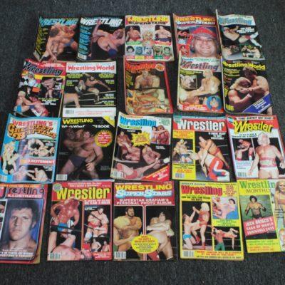 Wrestling Magazine Box Lot
