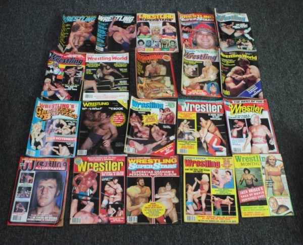 Wrestling Magazine Box Lot