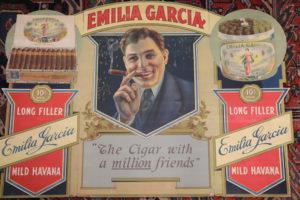 Emilia Garcia Tri Fold Cigar Ad