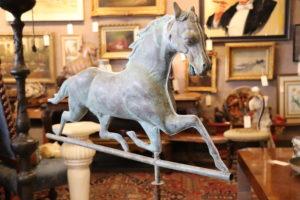 Running Horse Weathervane w/ Cast Zinc Head