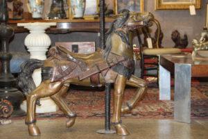Bronze Carousel Horse