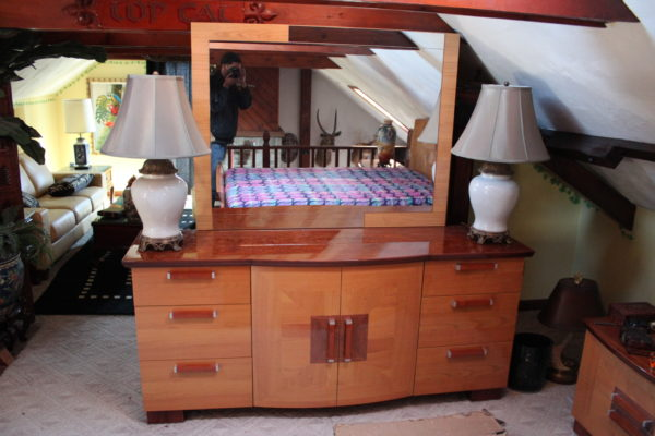 Contemporary Art Deco Style Bedroom Set
