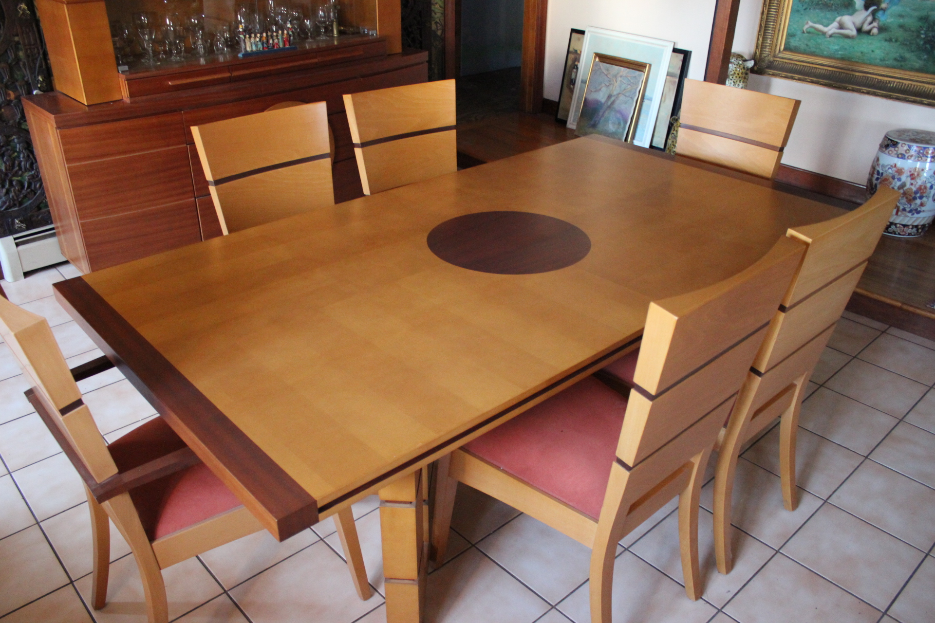 Contemporary Art Deco Style Dining Room Set
