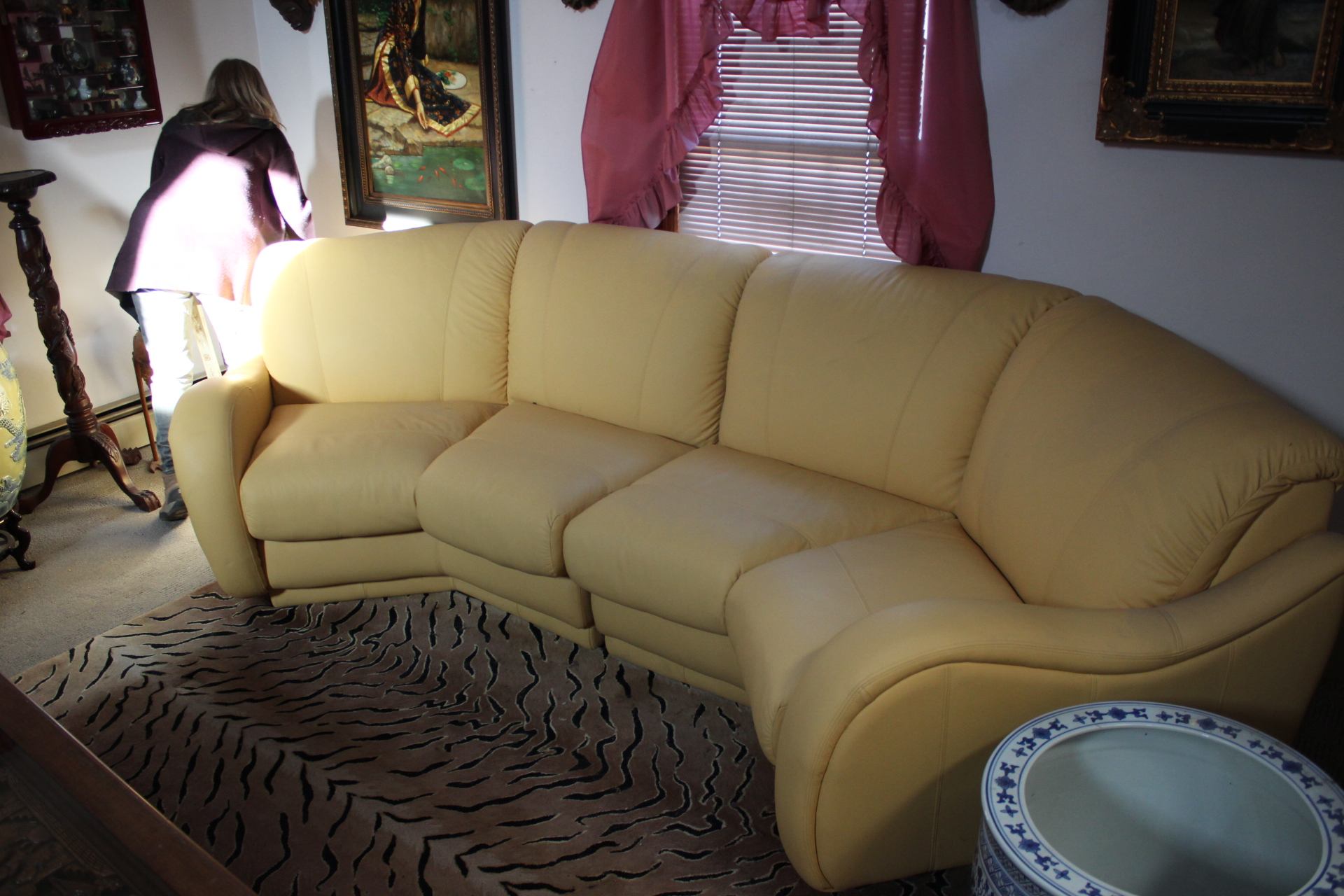 Butterscotch Leather Sofa Set