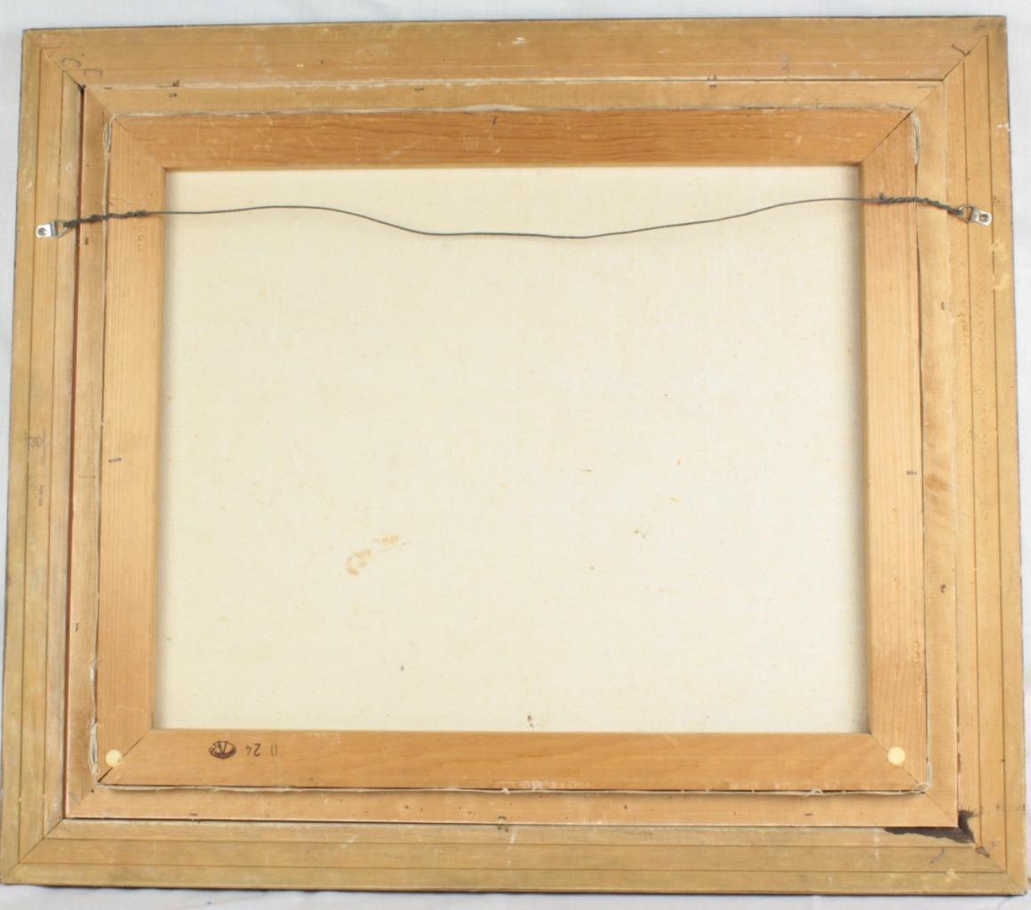 Impasto Oil Painting Female Nude Signed Barton Modernist