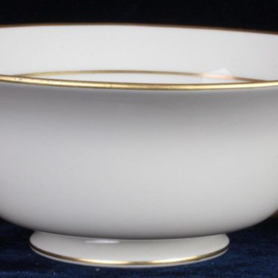 "8.5"" Lenox Tuxedo Berry Bowl J34 Pattern Gold Gilded Classic Porcelain China"