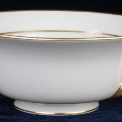 "8.5"" Lenox Tuxedo Berry Bowl J34 Pattern Gold Gilded Classic Porcelain China"