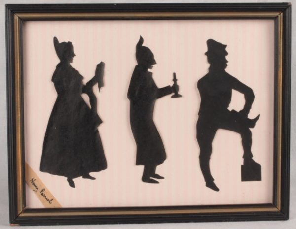 Signed Nancy Parrish Group Silhouettes Dickens Characters