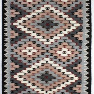 Navajo Butterfly Pattern Rug ANGELA BEGAY 37x72'' Runner Arizona + COA
