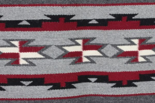 Navajo Rug ELIZABETH TSO Chinle Ganado Red +COA Arizona UNUSED