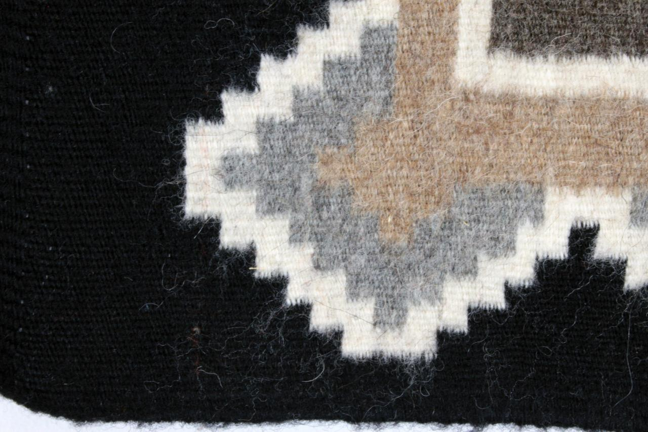 Navajo Rug FANNIE BEGAY Two Grey Hills New Mexico