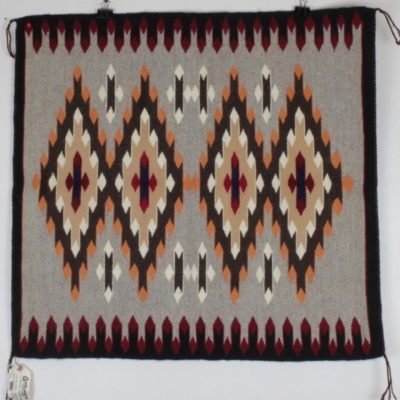 Navajo Rug JANE BEGAY Coal Mine 30x32'' Mesa Arizona Woven