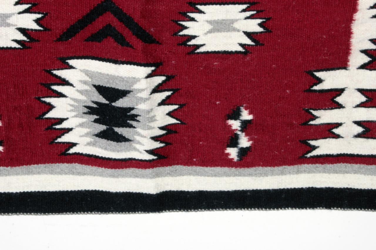Navajo Rug VERNECE BENCEL Ganado Red Storm