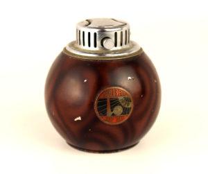 1939 New York Worlds Fair Chase Chrome Sphere Globe Lighter in Brown
