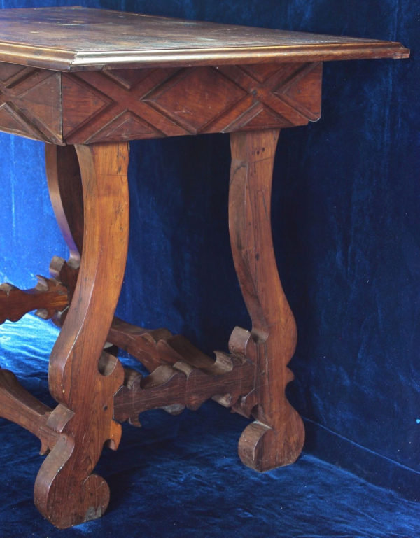 Rhodesian Teak Console Table Carved