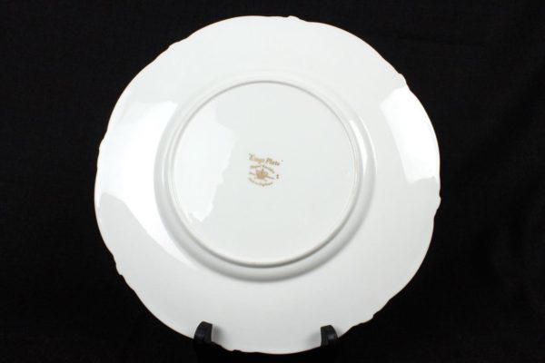 "10"" Royal Cauldon King's Dinner Plate White Gilt Bone China"