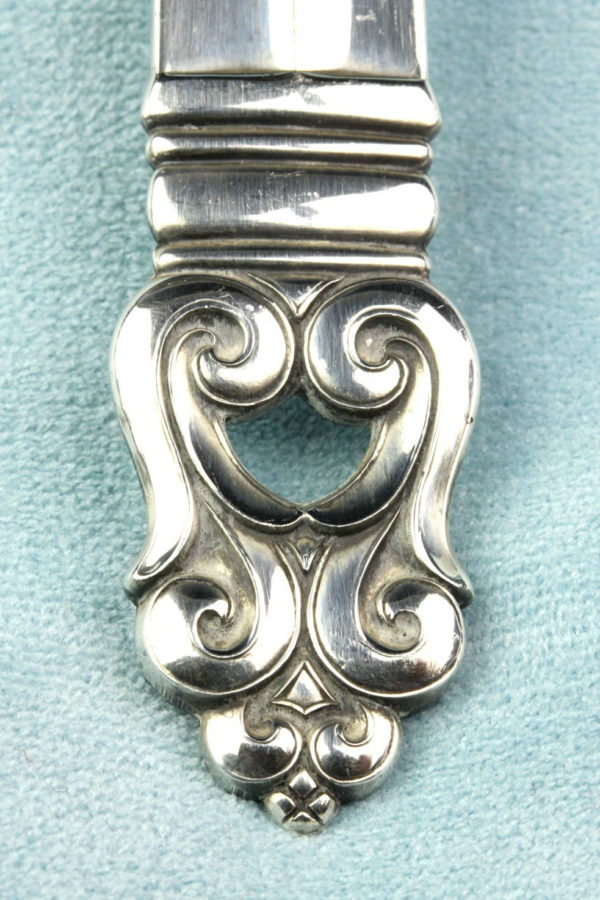 "Royal Danish Sterling 8&1/2"" Pierced Serving Spoon 1939 International Silver"