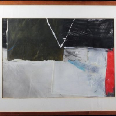 STEVE LINDEN 1976 Mixed Media Abstract Collage Art Painting Artwork
