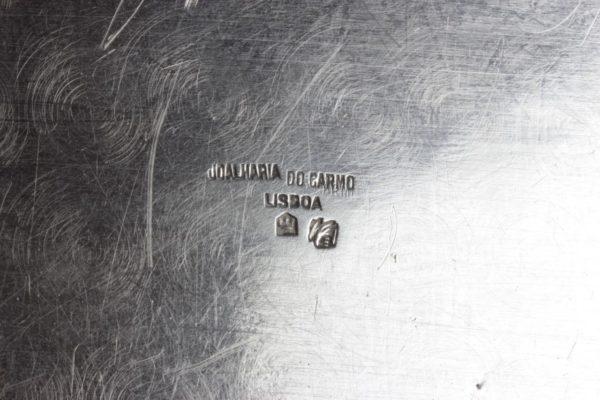 (2)SOLID .833 Silver Platters Trays Joalharia Do Carmo Lisboa Portugal