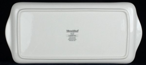 "13"" Villeroy & Boch Albertina Sandwich Tray Dish Platter Porcelain Dinnerware"