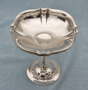 Wollenweber Germany Art Nouveau .800 Silver Compote Candy Dish