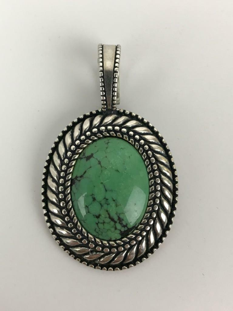 Vtg Carolyn Pollack Sterling Silver Turquoise Cabochon ...