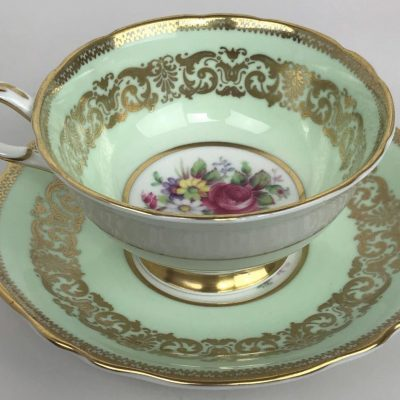 Vintage-PARAGON-Royal-Warrant-Green-Gilded-Bone-China-Porcelain-Tea-Cup-Saucer-173617204018-4