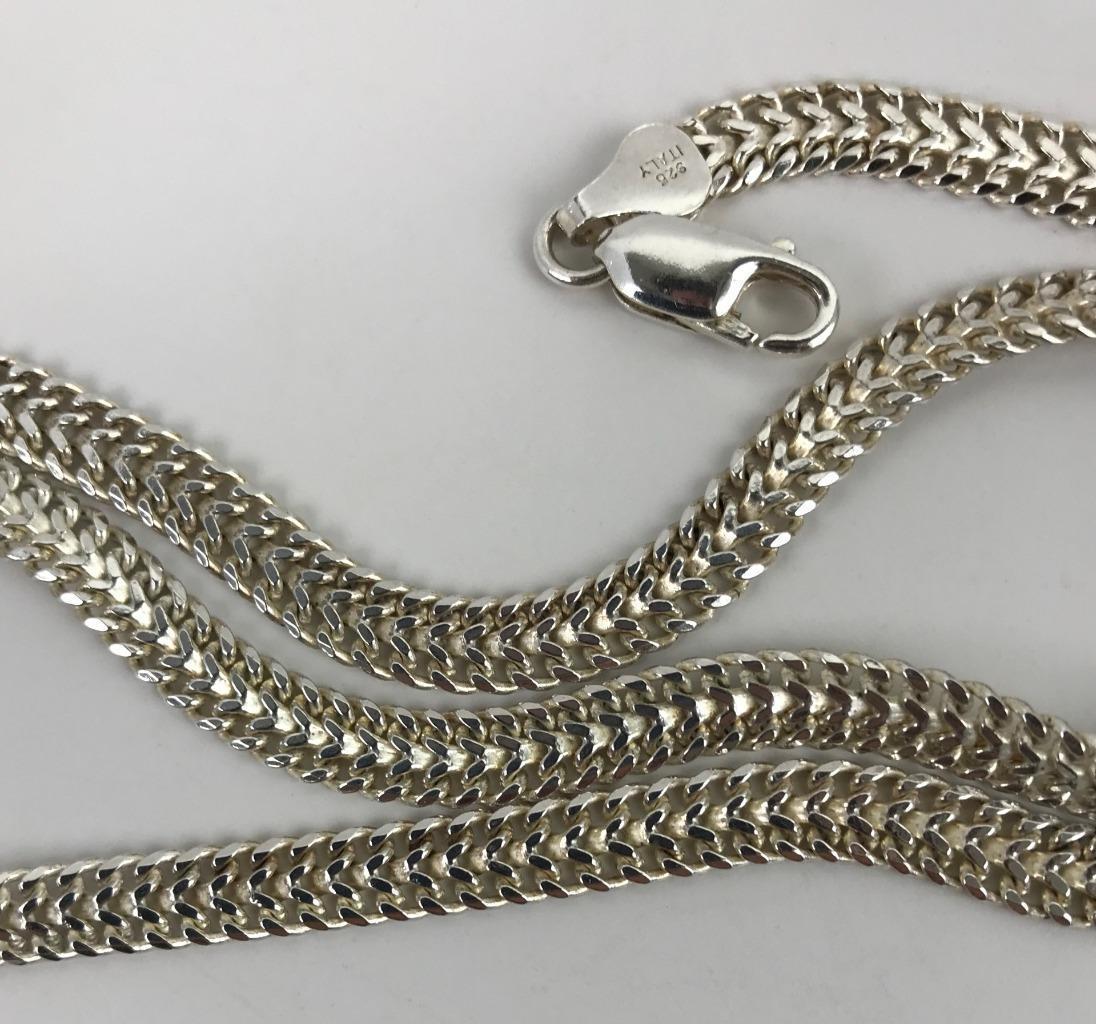 ITALY Estate Designer 925 Sterling Silver Mesh Link Chain 18