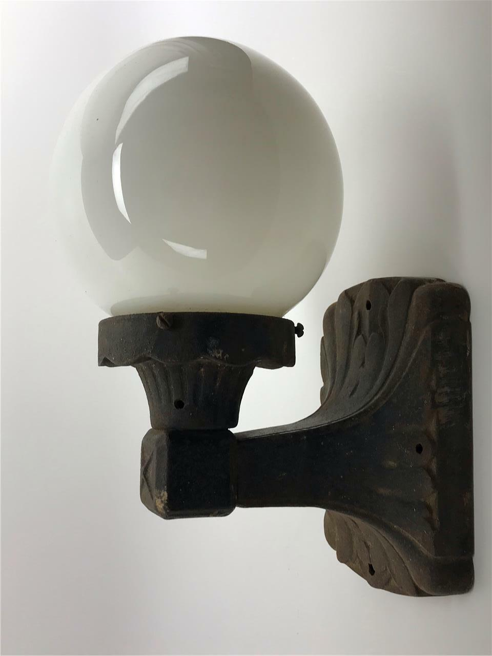 Sold Antique 1920s Art Deco Cast Iron Wall Light Sconce