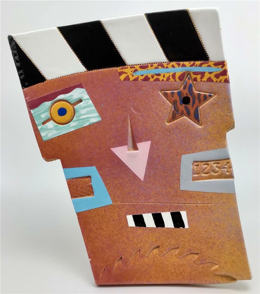 Home Decor Liquidators Memphis: 1990's MEMPHIS Motif Pop Art Abstract Modernist Ceramic